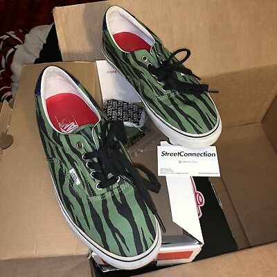 bac083f39c SS11 Supreme Vans Zebra Style 46 Era Size 10.5 Olive White Orange Box Logo  Tee