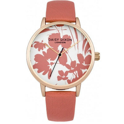 Daisy Dixon Coral Strap Watch With Floral Printed Dial