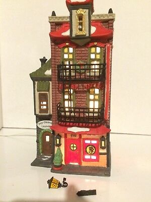 Dept 56 'Christmas In The City' Wong's In Chinatown #55379 Restaurant Chinese