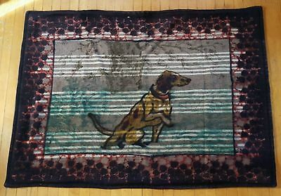 Antique Vintage Chase Pointer Dog Horse Hair Buggy Blanket Carriage Lap Robe