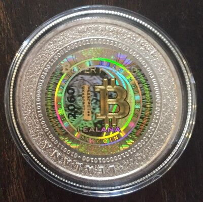 Unfunded/no digital value- LEALANA  .50 GOLD Holo -like bit coin CASASCIUS