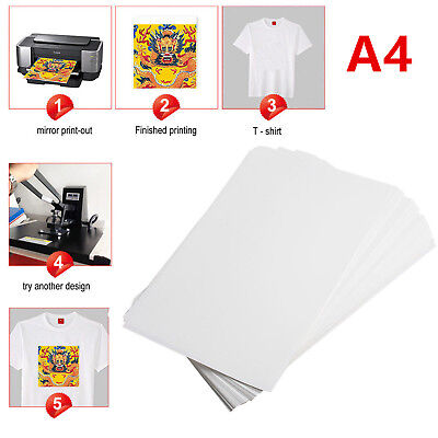 100PCS Sublimation ink Heat Transfer A4 Paper for Mug Polyester Cotton T-Shirt