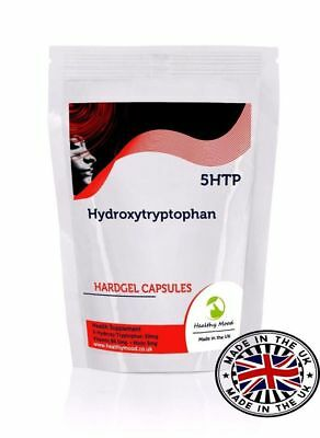 5 HTP Hydroxy Tryptophan 30/60/90/120/180/250 Capsules in Resealable Bag Refil
