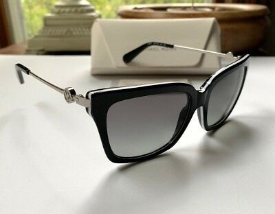 6251969545 Michael Kors Abela I Authentic Sunglasses Black 312911 MK6038 White Gray 2N  140