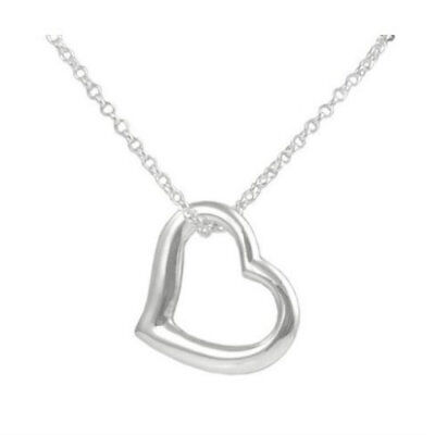 Stainless Steel Infinity Charm Heart Pendant Womens Silver Jewelry Necklace Gift