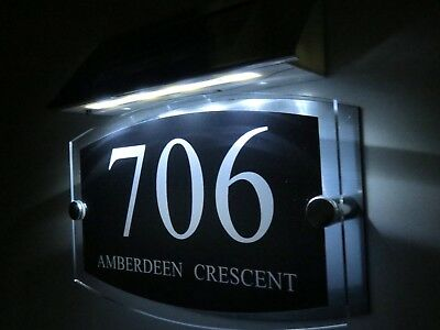 efa1e93026df MODERN SOLAR LIGHT House Signs Plaques Door Numbers 1 - 9999 street Name LED