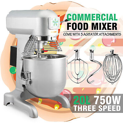 Brand New Commercial 20 Litre Planetary Mixer Dough Mixer 3 attachments 750W