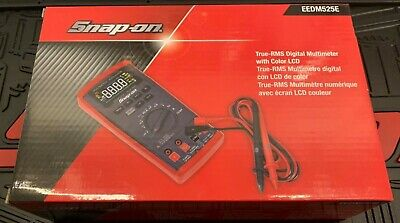 New! Snap-on True RMS Digital Multimeter w/Color LCD Display EEDM525E