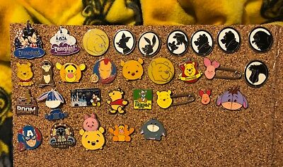 Random Disney Trading Pin Lot 30 Pieces-Only 66 Cents Per Pin!