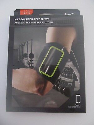Nike Evolution Bicep Phone Sleeve Black/Volt iPhone 6 Adult L/XL $35.00 New