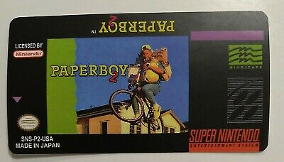 PAPERBOY SNES CARTRIDGE Replacement Game Label Sticker Precut
