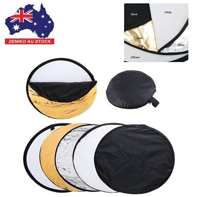"""5 Sets 110cm 43"""" 5 in1 Photography Light Mulit Collapsible Reflector Photo Disc"""