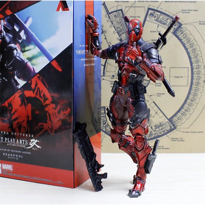 Play Arts Kai Deadpool Wade Wilson PA Marvel Variant 11'' Action Figure Doll New