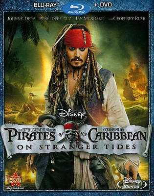 Pirates of the Caribbean: On Stranger Tides  Blu-ray + DVD Widescreen NEW SEALED