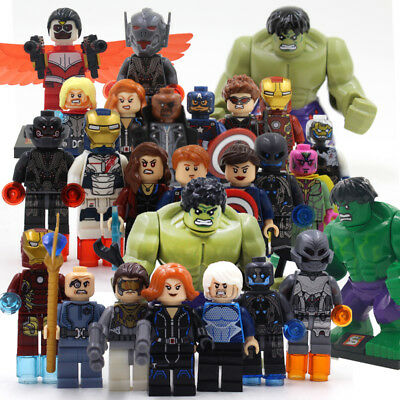Lego Mini Figure Marvel Minifigures Super Heroes Black Panther Thor Avengers