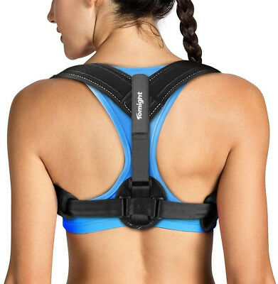 Adjustable Back Brace Posture Support Corrector Women Men Relieve Muscles Pain