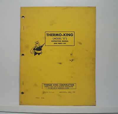 THERMO KING PARTS Manual / XDS SR Reefer w/3.95 Engine ... on