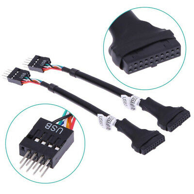 4 inch USB 3.0 20-Pin Motherboard Header Female to USB 2.0 8-Pin Male Adapt P8A8