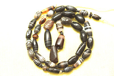 Sulimani Banded Beads Afghanistan Est 2000 years old Chung beads Tibetan China.