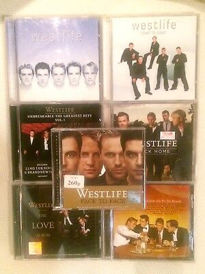 Westlife 7 Albums CDs Lot, Made In U.K., Russia, Argentina Hello My Love
