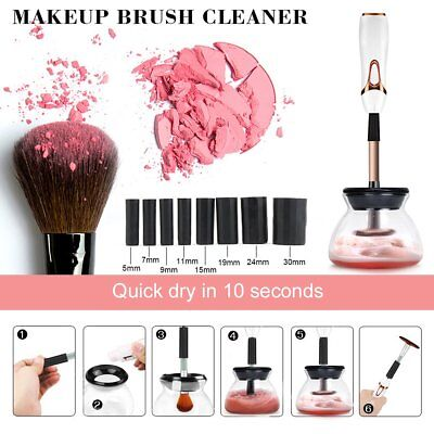 Electric Makeup Brush Cleaner Set Cosmetic Wash Dryer Brush Cleaning Tool Kit
