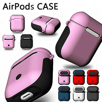 For Apple AirPods Case Silicone Cover Earphone Charger Shockproof PC Armor Cases