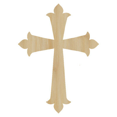 Laser Cut Out Wood Cross Wood Shape Craft Supply Unfinished Laser Wood Cross