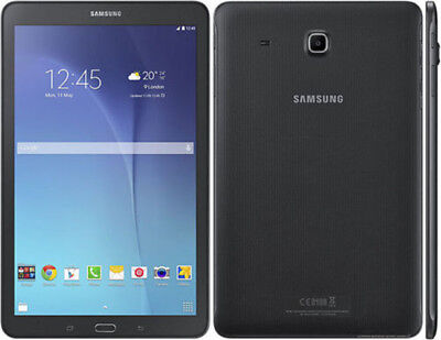 "Samsung Galaxy Tab E 8"" HD SM-T377T 4G + WiFi 16GB GSM Unlocked Black"
