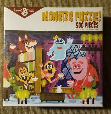 General Mills Monster Cereal Puzzle Frankenberry Booberry Count Chocula 500PC