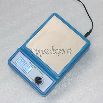 Compact Laboratory Magnetic Stirrer Clear LCD Display Shows Speed FK-2A NEW