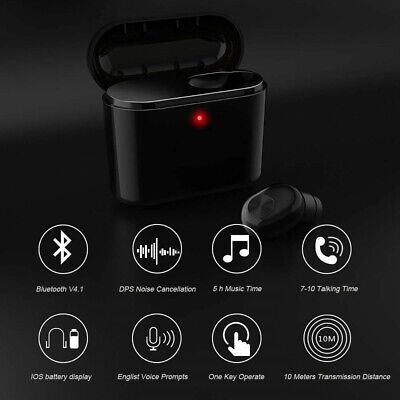 Wireless Bluetooth Earbuds Headphones Earphones Cordless Headset With Mic HQ