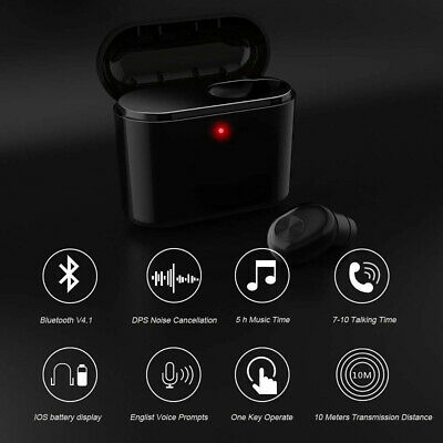 Wireless Bluetooth Earbuds Headphones TWS Earphones Cordless Headset With Mic HQ