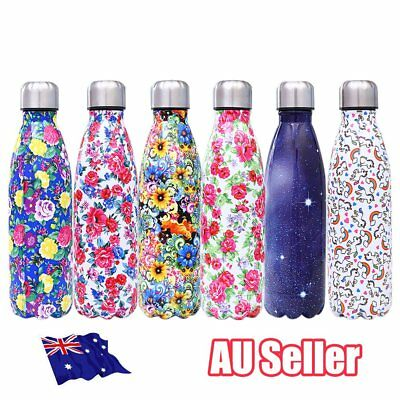 Stainless Steel Vacuum Insulated Water Bottle Flask Thermal Sports Chilly BO