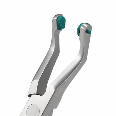Dental Crown Plier Surgical Instruments Crown Remover With Green Rubber Tipped