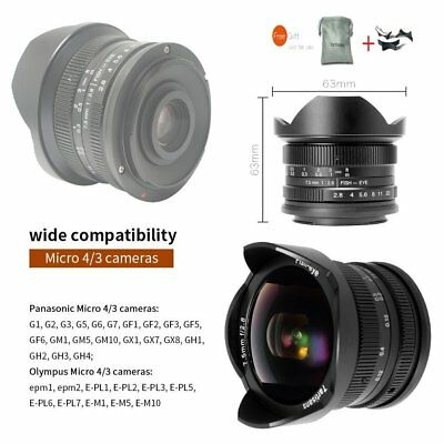7artisans 7.5mm F2.8 Manual Lens For Panasonic Olympus Micro 4/3 Cameras GH2 GH3
