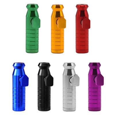 Portable Metal Aluminum Snuff Dispenser Snorter Powder Bullet Boxes Simple