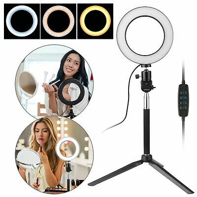 """6"""" LED SMD Ring Light Kit with Stand Dimmable 5500K for Makeup Phone Camera"""