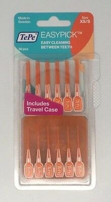 TePe EasyPick Interdental Brush, Orange Size: XS/S Pack of 36 | BEST PRICE |
