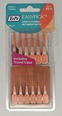 TePe EasyPick Interdental Brush, Orange Size: XS/S | 3 x Pack of 36 | BEST PRICE