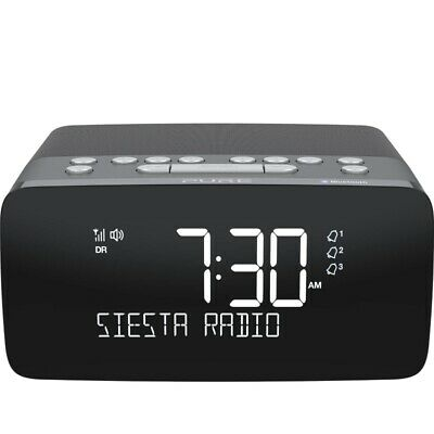 Pure Siesta Charge Qi Wireless Charging Bluetooth DAB+ Alarm Clock - Graphite