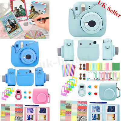 10in1 Ice Blue Camera Bag Case Album Filter Bundles for Fujifilm Instax Mini 8 9