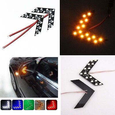 2X 14 SMD LED Arrow Panel Car Rear View Mirror Turn Indicator Light Device Good