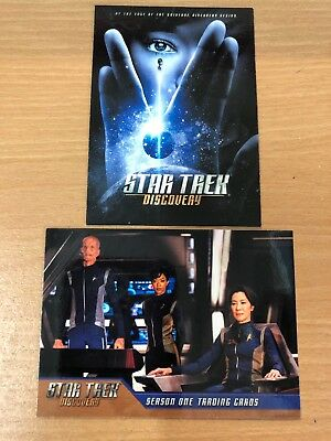 Star Trek Discovery Season One Promo Card P1 & Promo Card PT1