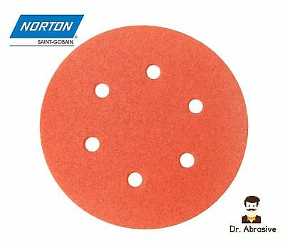 Sanding Discs 150mm NORTON Sandpaper Pads 6 inch DA Hook and Loop Grit 40-240