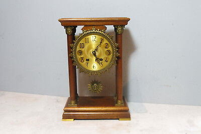 Dutch Table Clock Shelf Mantel Old Clock in Nutwood Warmink Wuba Clock