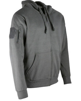 Kombat Grey Spec-Ops Hoodie Deluxe Zipped Warm Jumper Outdoors Camping Military