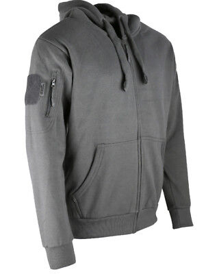 Kombat Tan Spec-Ops Hoodie Deluxe Zipped Warm Jumper Outdoors Camping Military