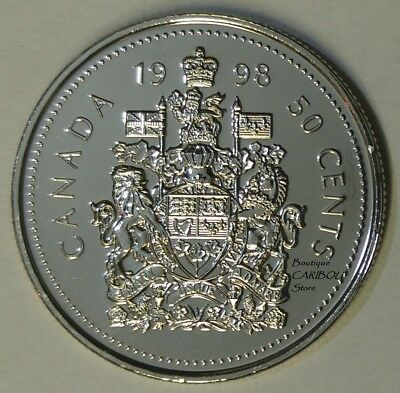 1998 Canada 50 Cents Coat of Arms BU
