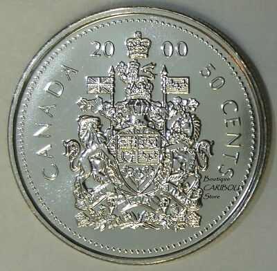 2000 Canada 50 Cents Coat of Arms BU