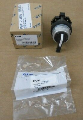 Nib Eaton Ht8Jvh1D Selector Switch 3-Position Black Lever Spring Return Operator